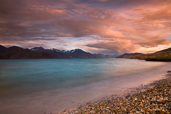Sunset at Pangong Lake