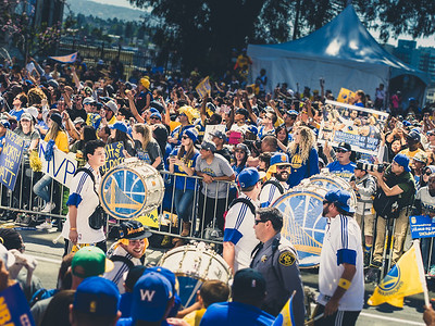 Band, Golden State Warriors Parade, Oakland, CA