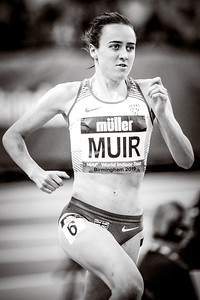 Laura Muir wins the 1 mile in a new British Indoor record time of 4:18.75 at the Muller Indoor Grand Prix in Birmingham. She beats the 31 year old mark of 4:23.88 set by Kirsty Wade in 1988.