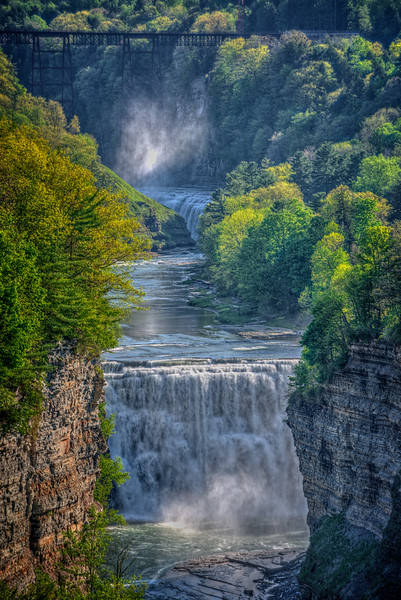 Letchworth Gorge, Upper and Middle Falls