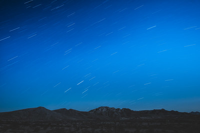 Star trails, BLM Camping, Valley of Fire Highway, Las Vegas, Nevada