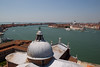 Looking over the harbour and the entrance to the Grand Canal from the top of San Giorgio Maggiore.