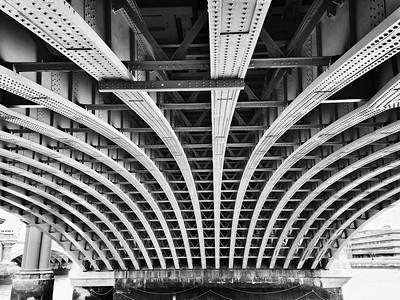 River Thames Bridge near Blackfriar's Bridge, London, England