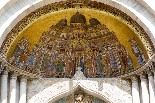 Gold leaf details at St Mark's basilica.