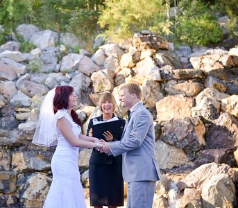 Wedding joy at Millennial Falls