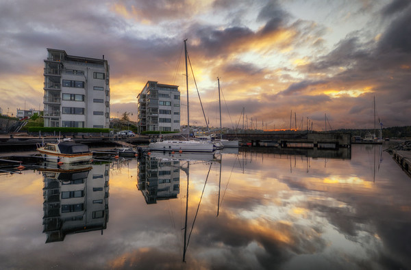 Gåshaga Marina Sunset