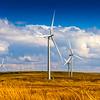Wind farm outside Glasgow