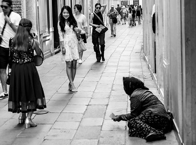 Beggar, Venice, Italy