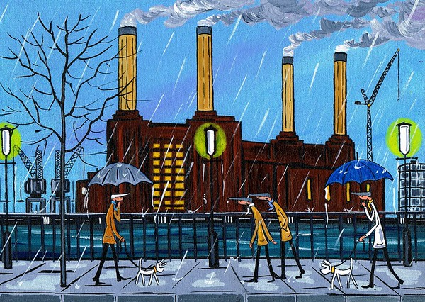 Wet and windy day at battersea