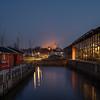 Blå aften i Roskilde
