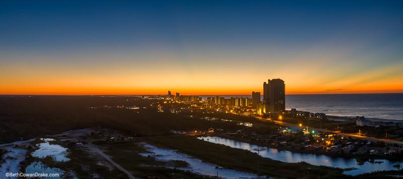 Morning twilight at Orange Beach