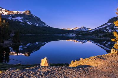 Sunrise at Tioga Lake