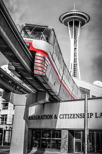 Seattle Monorail Red Train