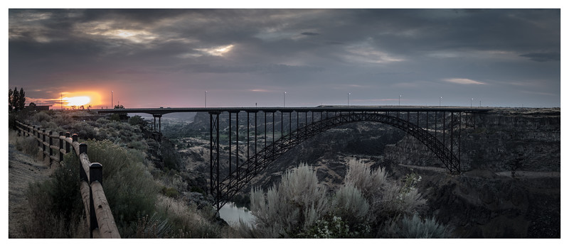 Summer Sunset at Perrine Bridge