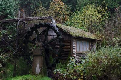 Darby Water Wheel - Union, Washington