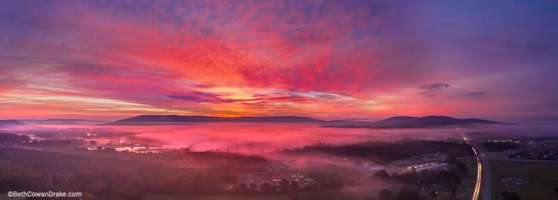 Morning twilight over Big Cove