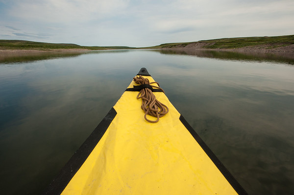Yellow Canoe Bow