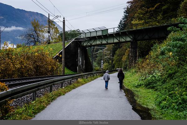 Children Walk in Garmisch-Partenkirchen