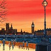 Sunset over old London Town