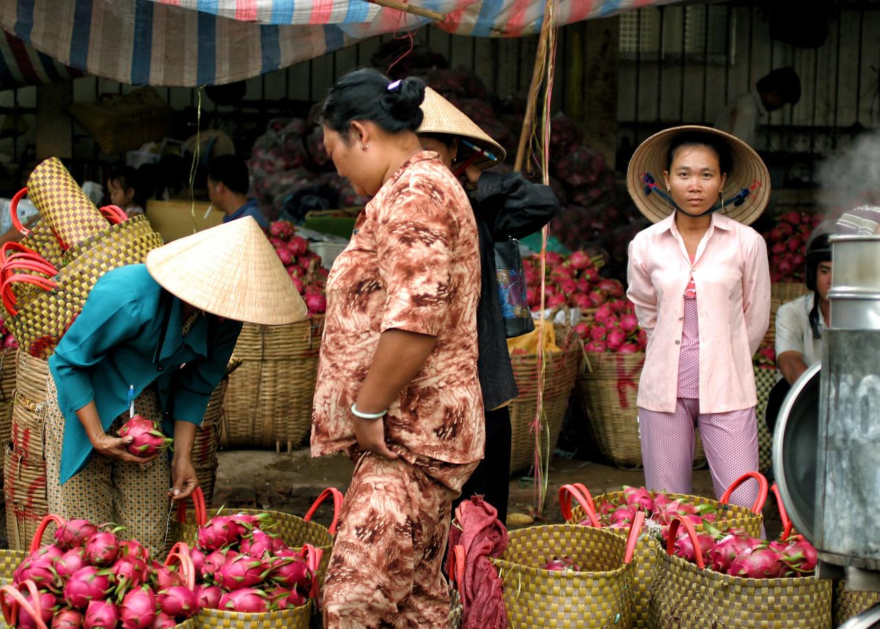 Mekong Delta fruit Market, Vietnam-2005