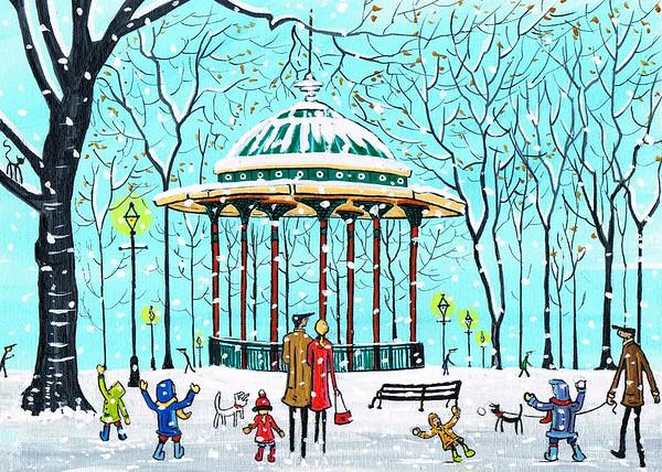Clapham bandstand in winter