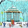 Clapham bandstand in winter