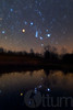 A Dreamy Orion Rises Over the Pond