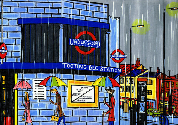 Tooting bec station winter time