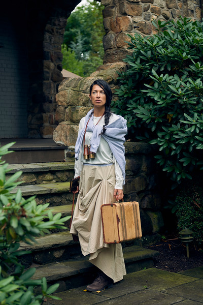 """Maja wears clothing from """"Sofistafunk's Wonderland,"""" the F/W1718 campaign of fashion designer Sofistafunk in Essex Fells, New Jersey. Styled by Arlinda M. for Sofistafunk The Skirt Co. https://sofistafunk.com/ Hair and makeup by Maja. Photo by Brandon Vick, http://www.brandonvickphotography.com/"""