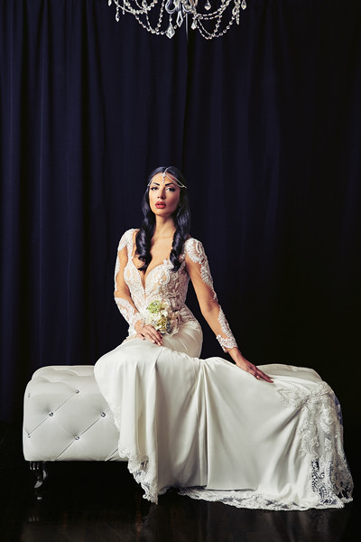 Maja Milicevic Klugh wears a wedding gown from the Adornato Couture Bridal Collection at Spybaby Bridal https://spybabybride.com/ in Syracuse, NY. Photo CBrandon Vick Photography, http://www.brandonvickphotography.com/