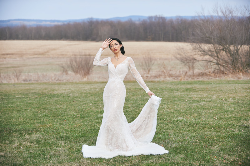 """Maja wears a bridal gown provided by Stella's Bridal Boutique in Le Roy, NY at Reed Homestead in Livonia, NY. Photo by Brandon Vick, <a href=""""http://www.brandonvickphotography.com/"""">http://www.brandonvickphotography.com/</a>"""