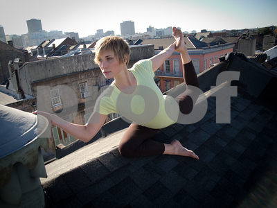 Mary Kuzmovich on a rooftop in the French Quarter