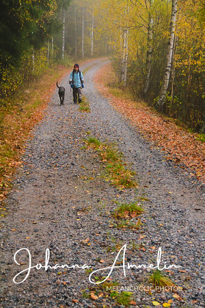 Old friends walking to school