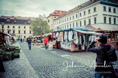 Prague market place
