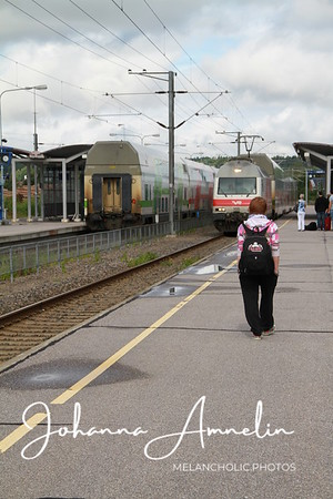 Going to the train