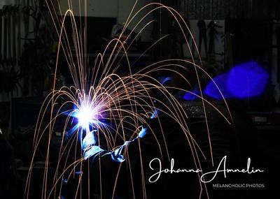 My dad welding