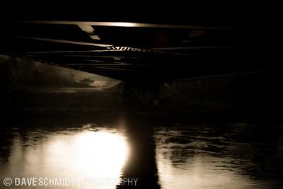 Winooski River Bridge, built in 1929.  April, 2010  20100403_morning-6988