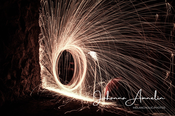 Steel wool fire photography