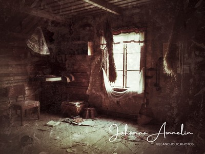 Kid's room in an abandoned house