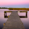 Crabbing dock at sunrise. Long Pond, Madaket, Nantucket MA