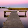 Crabbing dock at sunrise. Long Pond, Madaket, Nantucket MA (SOLD)