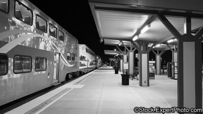 4:20 in the morning at the Perris South Metrolink train station