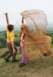 Dancing on Glastonbury Tor