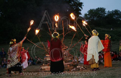 Lighting the Lammas Fire