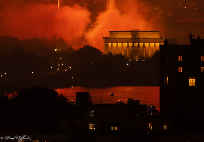 Fiery Night - Lincoln Memorial