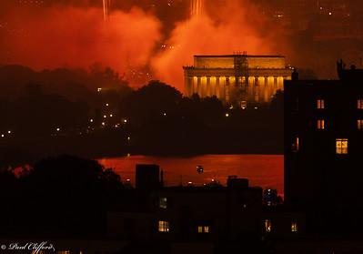 Fiery Night - Lincoln Memorial