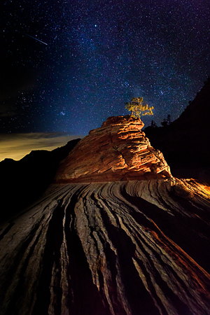Illuminated Mountain