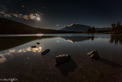 Moonrise Near Banff