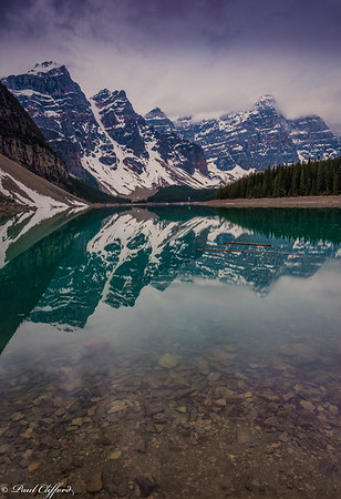 Lake Moraine Before Sunrise