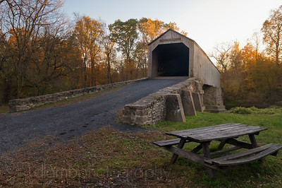 Schofield Ford Covered Bridge in Autumn